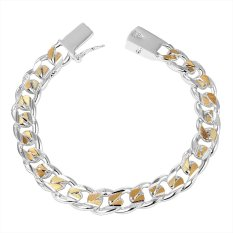 MAK 925 Sterling Silver Bracelet Simple Link Chain Trendy Bangle Fine Jewelry For Unisex (Intl)