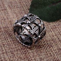Jetting Buy salib cincin teks Alkitab TITANIUM perhiasan untuk pria wanita baja sekitar . Source ·