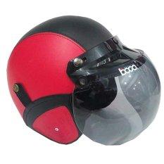 Matrix Helm - Helm Bogo Retro Merah Hitam