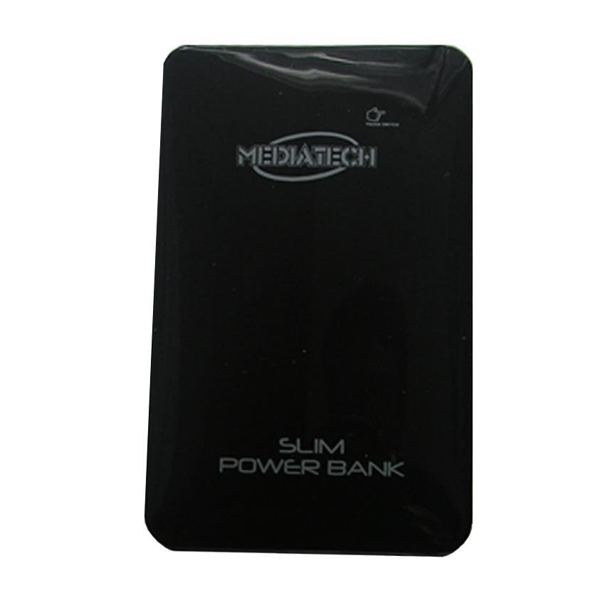 Mediatech Slim Power Bank - 10000 mAh - Hitam