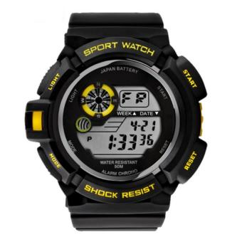 Men Digital Sport Watches (Yellow)