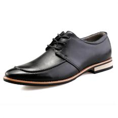 "Men""s Casual And Comfortable And Cool Korean Small Leather Shoes (Black) ' - Intl"