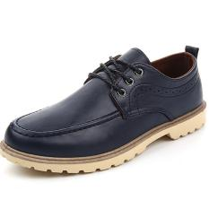 "Men""s Casual And Comfortable And Cool Korean Small Leather Shoes (Blue) ' - Intl"
