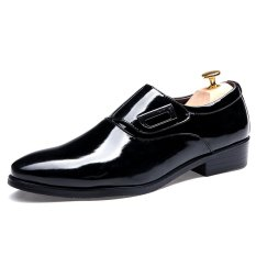 Men's Casual Shoes Men's Formal Shoes Leather Shoes Business Shoes Loafers Flat Shoes Fashion SS518U135X(black)- Intl