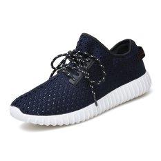 Men's Fly Woven Coconut Breathable Shoes Hole Hole Shoes Lq520d3 - Intl