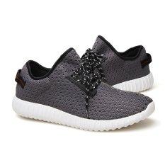 Men's Fly Woven Coconut Breathable Shoes Hole Hole Shoes Lq520d4 - Intl