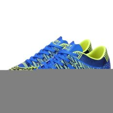 Men`s Outdoor Soccer Boots Turf TF Indoor Football Soccer Futsal Shoes (Blue) (Intl)