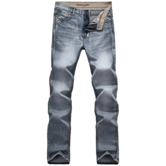 Mens Retro Slim Fit Denim Pants Straight Vintage Skinny Jeans - INTL