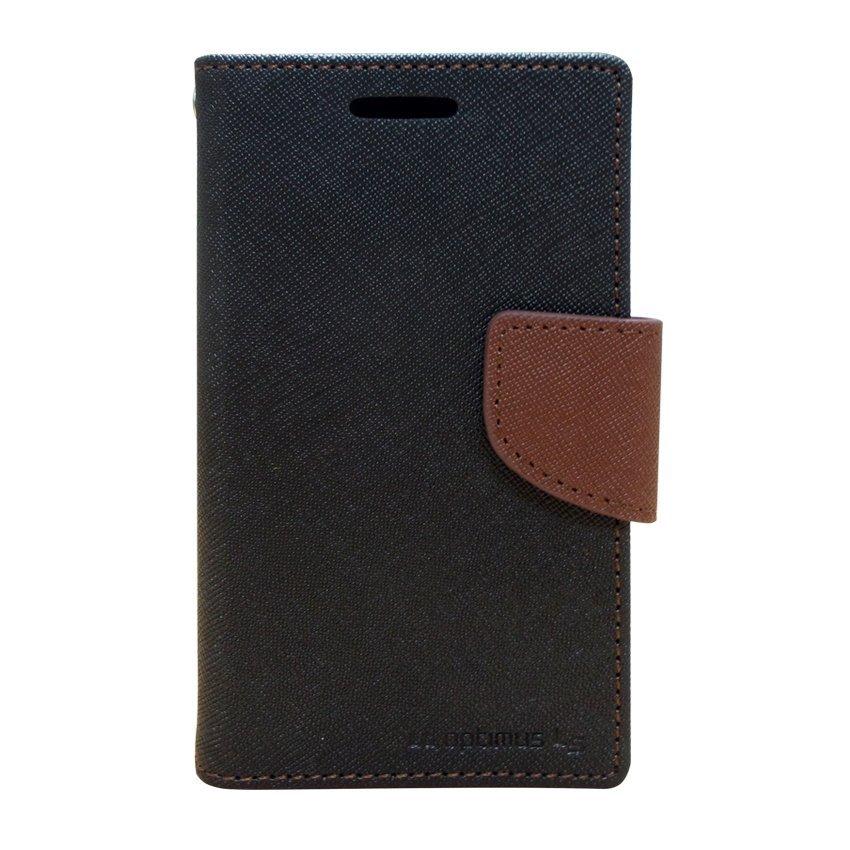 Mercury Fancy Diary Case - LG Optimus L5 - Hitam/Cokelat