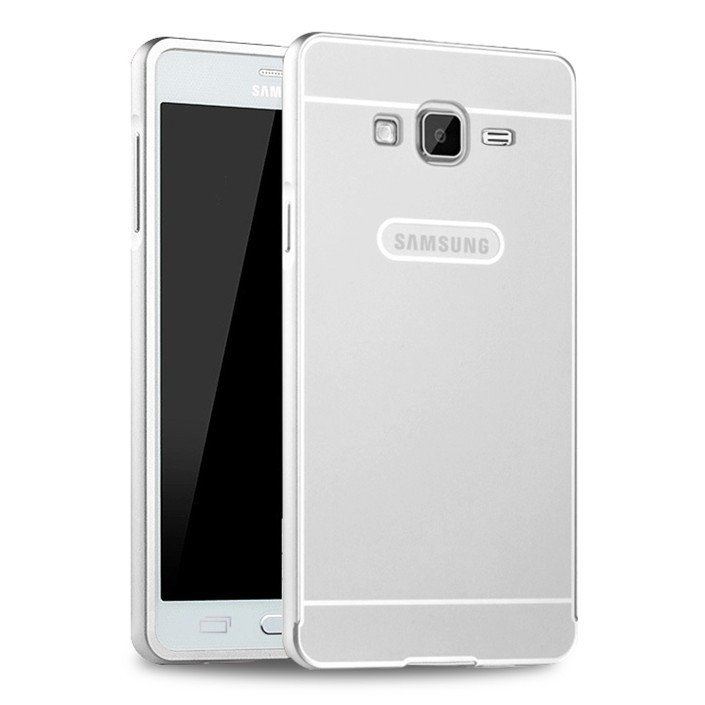 Metal Aluminum Frame PC Back Case for Samsung Galaxy On5 G5500 (Silver) (Intl)