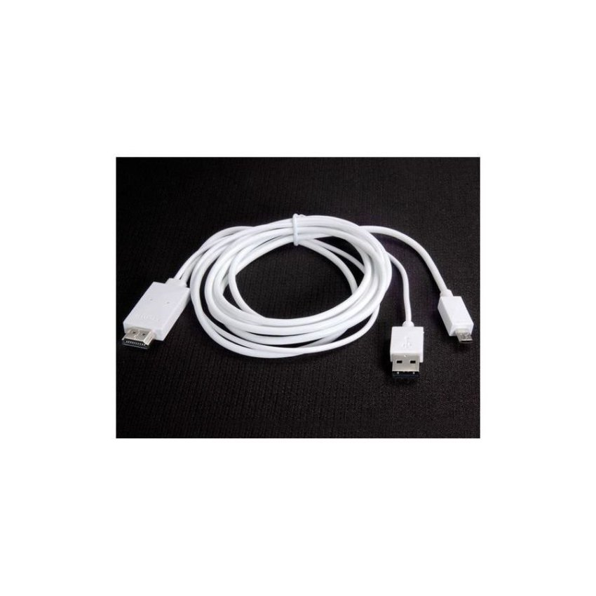 MHL Micro USB 3.0 to HDMI HDTV Media Adapter Cable for Samsung Galaxy Note 3 White