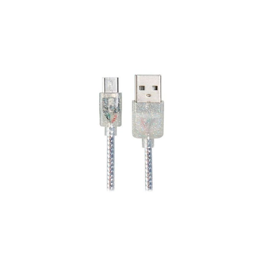 Micro USB to USB 2.0 Charging Data Cable with FragranceSilver
