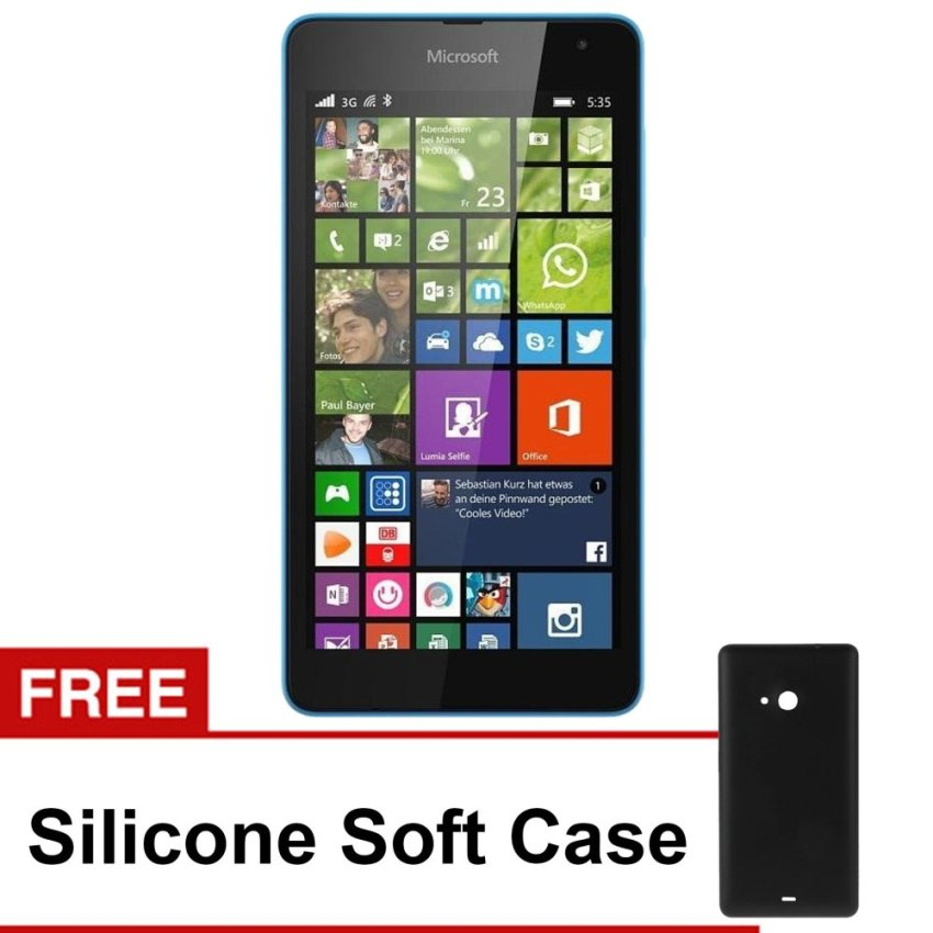 Microsoft Lumia 535 - 8GB - Cyan+Gratis Soft Case