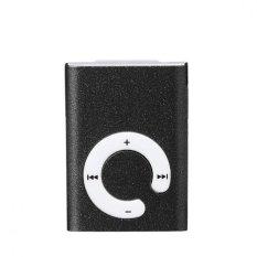 Mini Clip Metal USB MP3 Player Support Micro SD TF Card Music Media Black