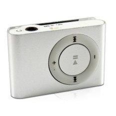 MINI MP3 PLAYER ALUMINIUM CLIP USB (Sliver) (Intl)