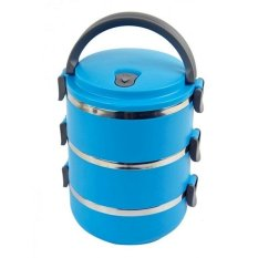 Misson Eco Lunch Box Stainless Steel Rantang 3 Susun - Blue