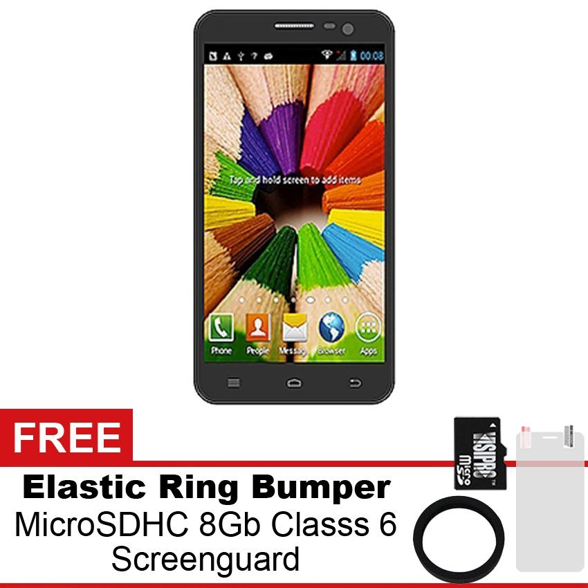 Mito Fantasy Note A30 - 8Gb - Hitam + Gratis MicroSDHC 8Gb Class 6 + Elastic Ring Bumper + Screenguard
