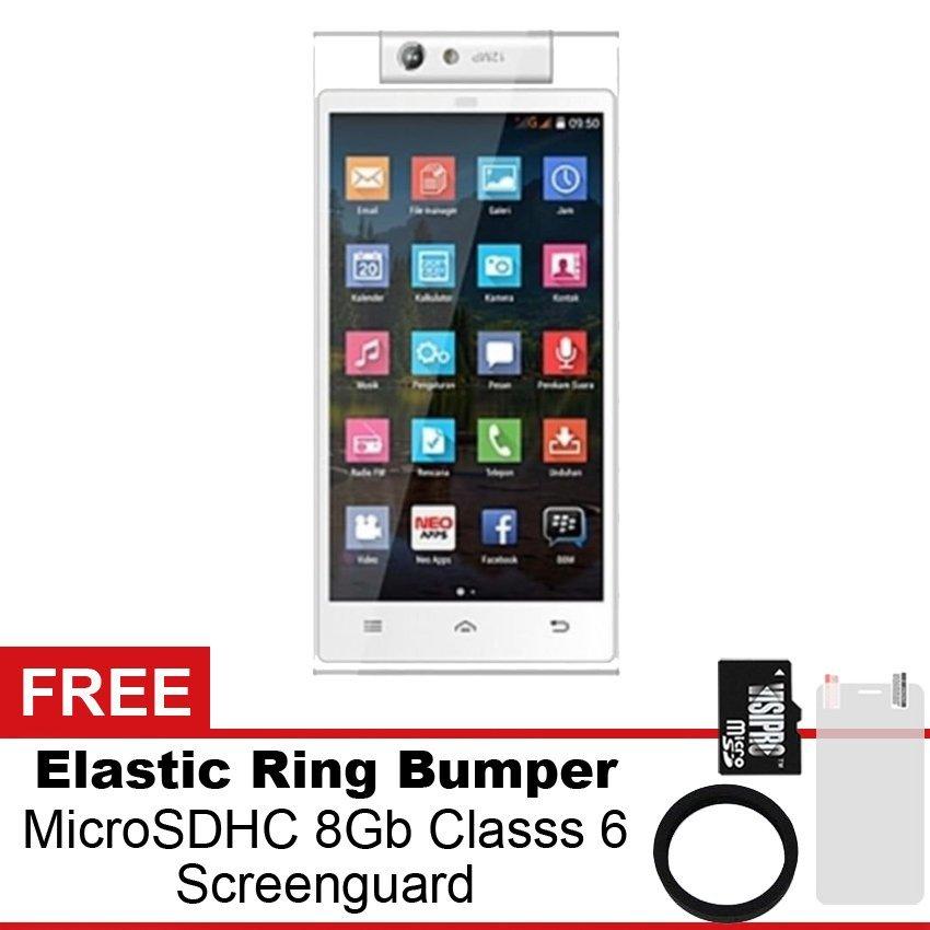 Mito Fantasy Selfie 2 A18 - 8GB - Putih  + Gratis MicroSDHC 8Gb Class 6 + Elastic Ring Bumper + Screenguard