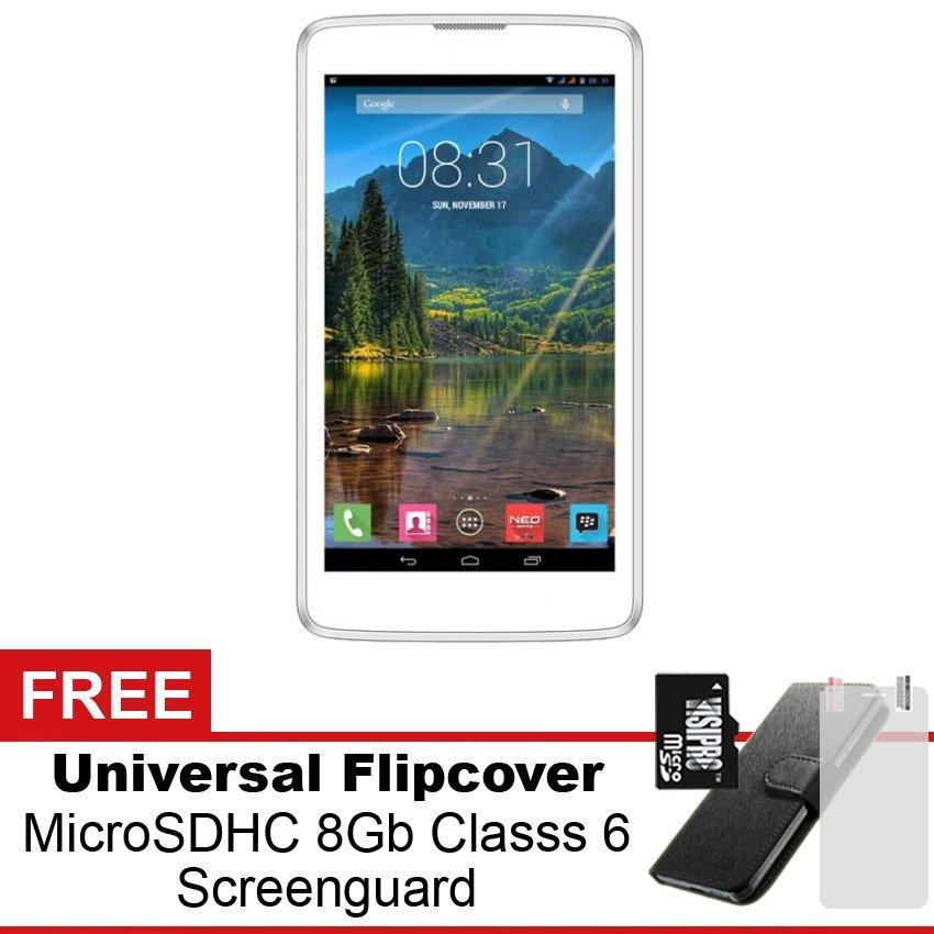 Mito Fantasy Tablet T77L - 4GB - Putih + Gratis Paket Hadiah