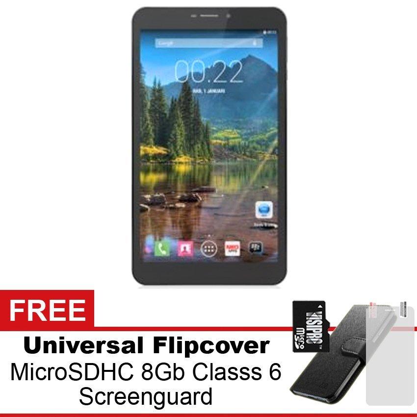 Mito Fantasy Tablet T888 - 8 GB - Hitam + Gratis MicroSDHC 8Gb Class 6 (Full App & Game) + Universal Flipcover + Screenguard