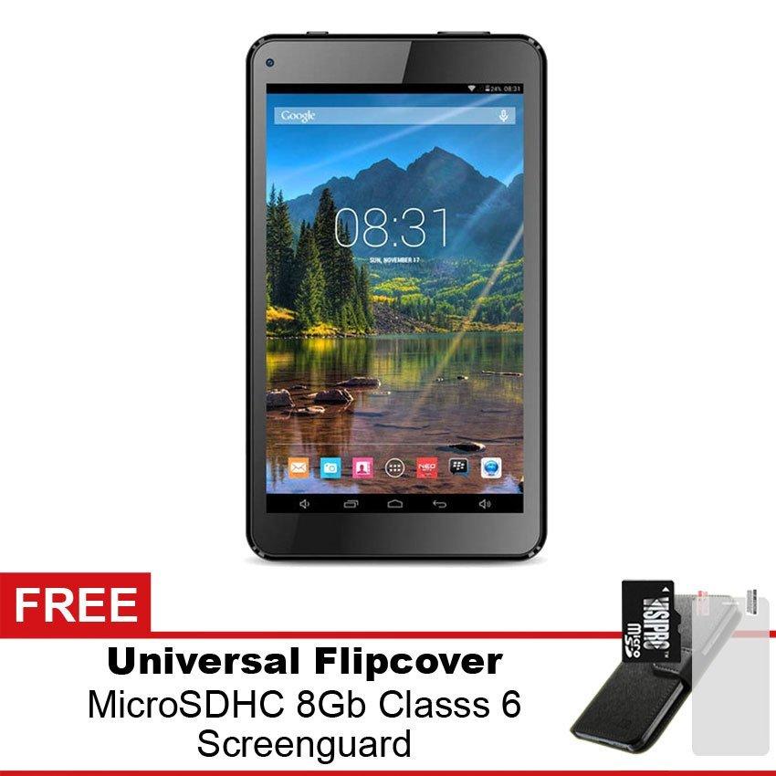 Mito T99 Plus Wifi Tablet - 8GB - Hitam - Gratis Micro SDHC 8Gb Class 6 + Flipcover + Screenguard