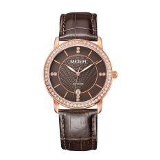 Miyifushi MEGIR Authentic Fashion Belts Female Table Quartz Watch Miss Han Ban Slim Personality (Rosegold)