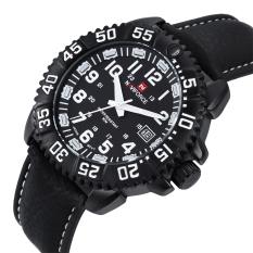 Miyifushi NAVIFORCE9041 Cool Fashion Calendar Watches Men#039;s Belt Leisure Table (White)