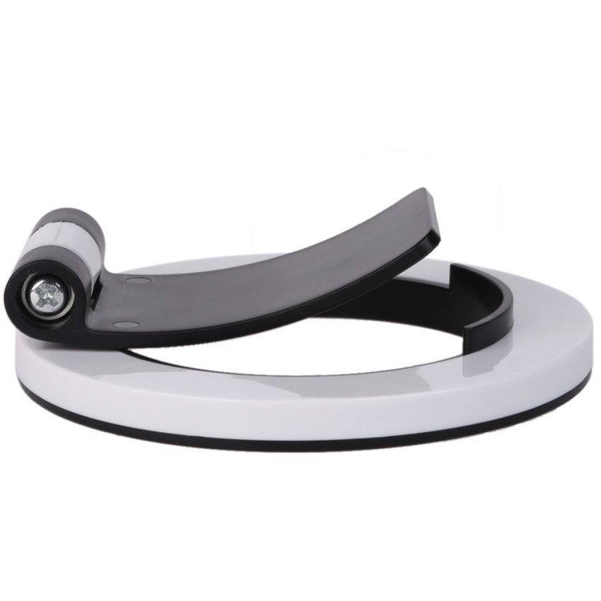 Mobile Flat Circular Base Stand for Smartphones/ Tablets (Black) (Intl)