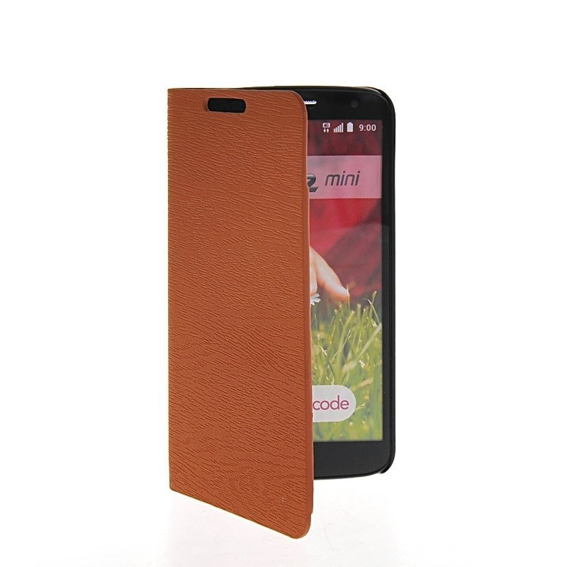 MOONCASE Flip Leather Wallet Stand Case Cover for LG G2 Mini Brown