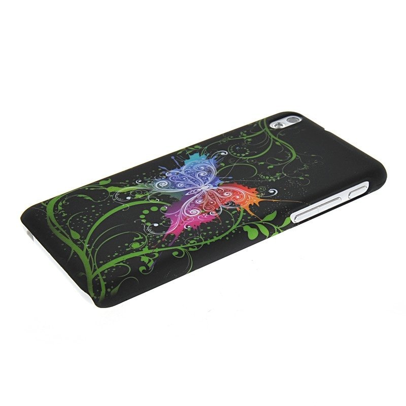 MOONCASE Hard Rubber Butterfly Case Cover for HTC Desire 816 800
