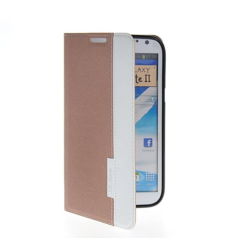 MOONCASE Side Flip Leather Stand Case Cover for Samsung Galaxy Note 2 N7100 Brown