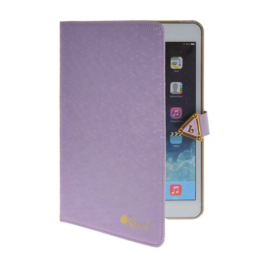 MOONCASE Stylish Flip Leather Stand Case Smart Cover with Sleep / Wake Function for The iPad Mini 2 Purple