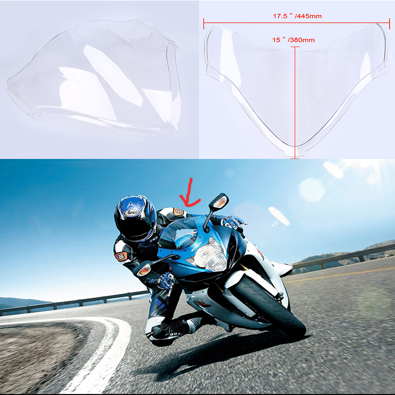 Motorcycle Windshield Windscreen Windproof For Suzuki GSXR 1300 2008-2011 - Intl