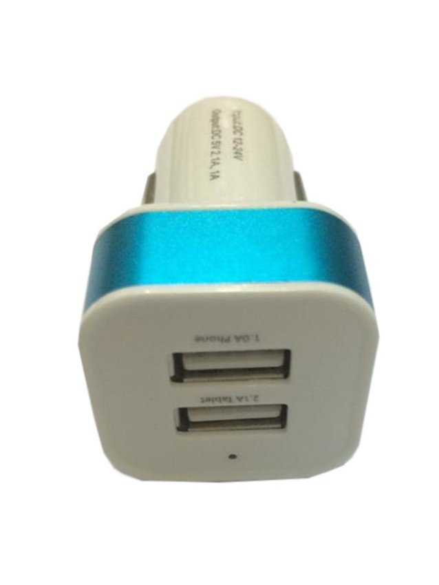 MR CAR Charger Head/ Batok USB 2 Output - Biru