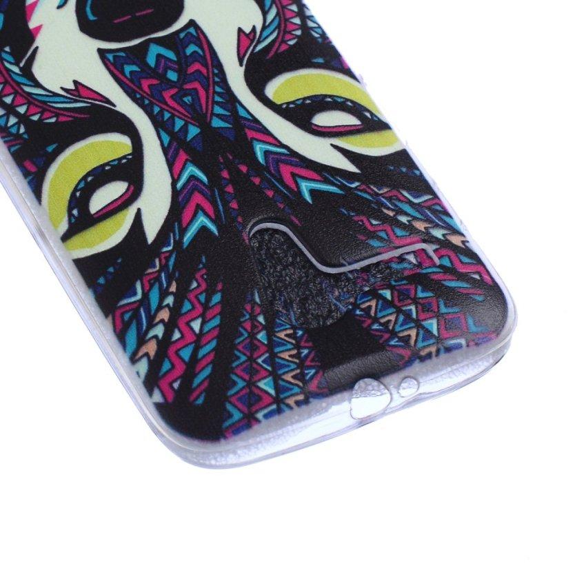 MSK Wolf Pattern Soft Gel TPU Case for Motorola Moto G (Multicolor)