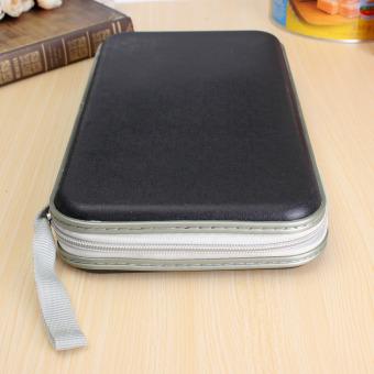 Multi Colors 80x Disc CD DVD Portable Storage Case Wallet Hard Box Bag Holder Black