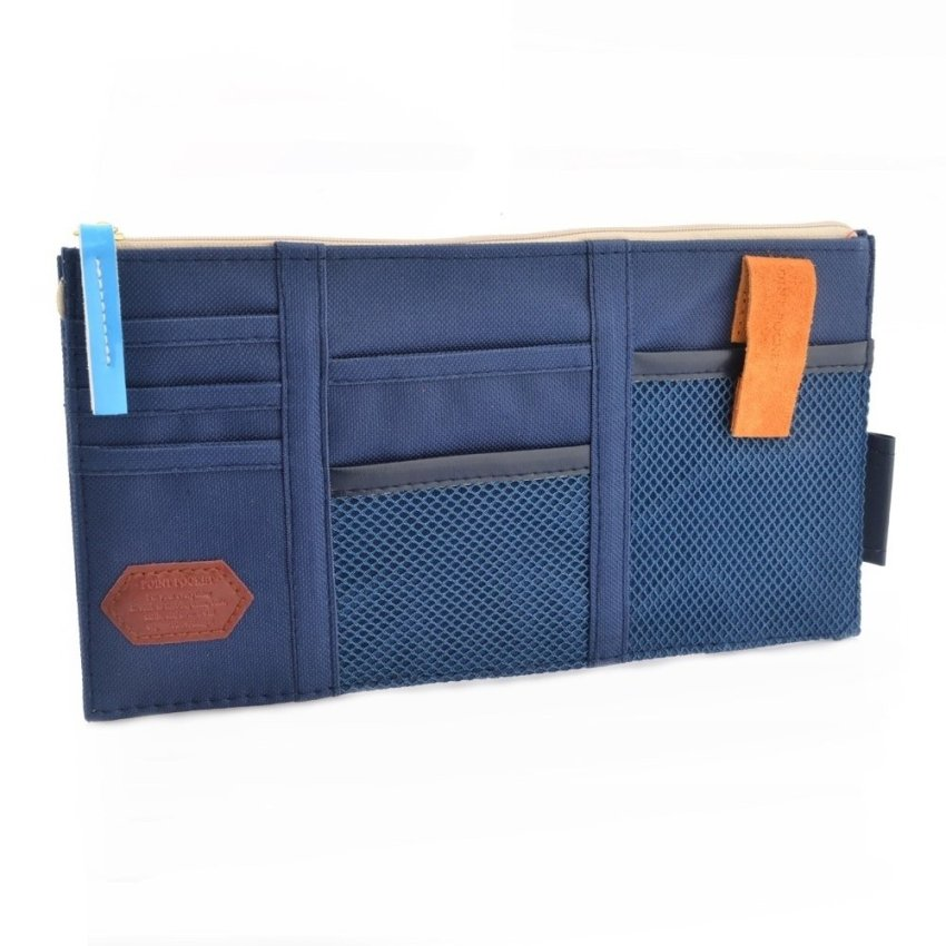 Multi-functional Auto Car Sunvisor Pocket Storage Bag (Blue)