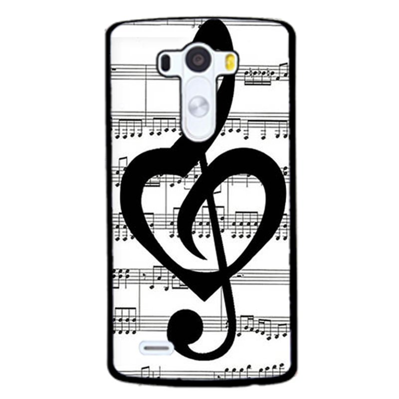 Music Note s Phone Case for LG G3 (Black)
