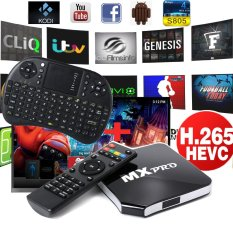 MX Pro Android Quad Core Smart TV Box + Wireless Keyboard AU Adapter AH051 - Intl