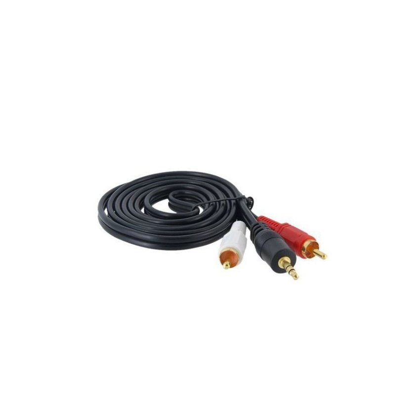 MYE 1.5 m 3.5 mm to 2 RCA Cable Black