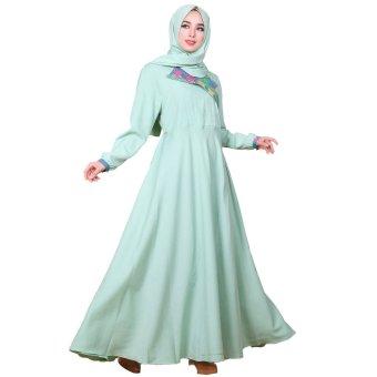 Nasywanisa Baju Muslim Gamis Nn127 Dress Panjang Batik