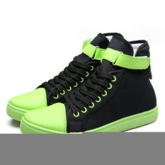 New 2016 Men / Women High-Top Espadrilles Casual Shoes Breathable Canvas Shoes Fashion Women's Shoes (Green) (Intl)