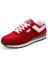 New Arrival Men Spring Sport Casual Shoes Sneakers Sport Casual Fashion Sneakers (Red) - Intl