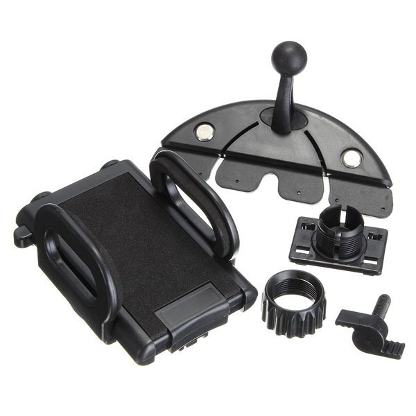 New Black Car CD Slot Dash Mount Holder Cradle Dock for Cell Phone and GPS (Intl) (Intl)