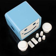 New Creative Blue Rotatable Smile Cute Cartoon Paper Box Cover Case Holder Home Decoration 2 ColorsBlue (Intl)