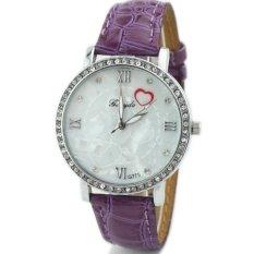 New Fashion Heart-shaped Rome Fashion Ladies Quartz Watches Watches Simple Purple - INTL