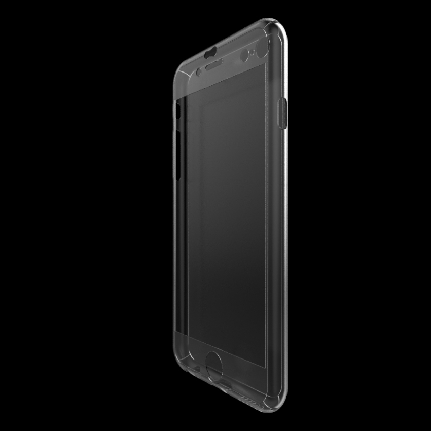 New Full Body Front + Hard Back Case with Tempered Glass for iPhone 6 Plus Clear(INTL)