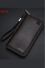 New Style Mens Wallet Business Zipper Purse Large Capacity Men Handbag Coffee 3