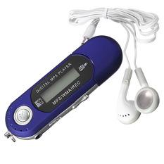 New USB Flash Drive LCD Screen Mini MP3 Music Player With FM Radio 4GB Car Gift Blue - Intl
