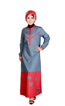Nibras Baju Gamis Nb 41 Merah Lazada Indonesia